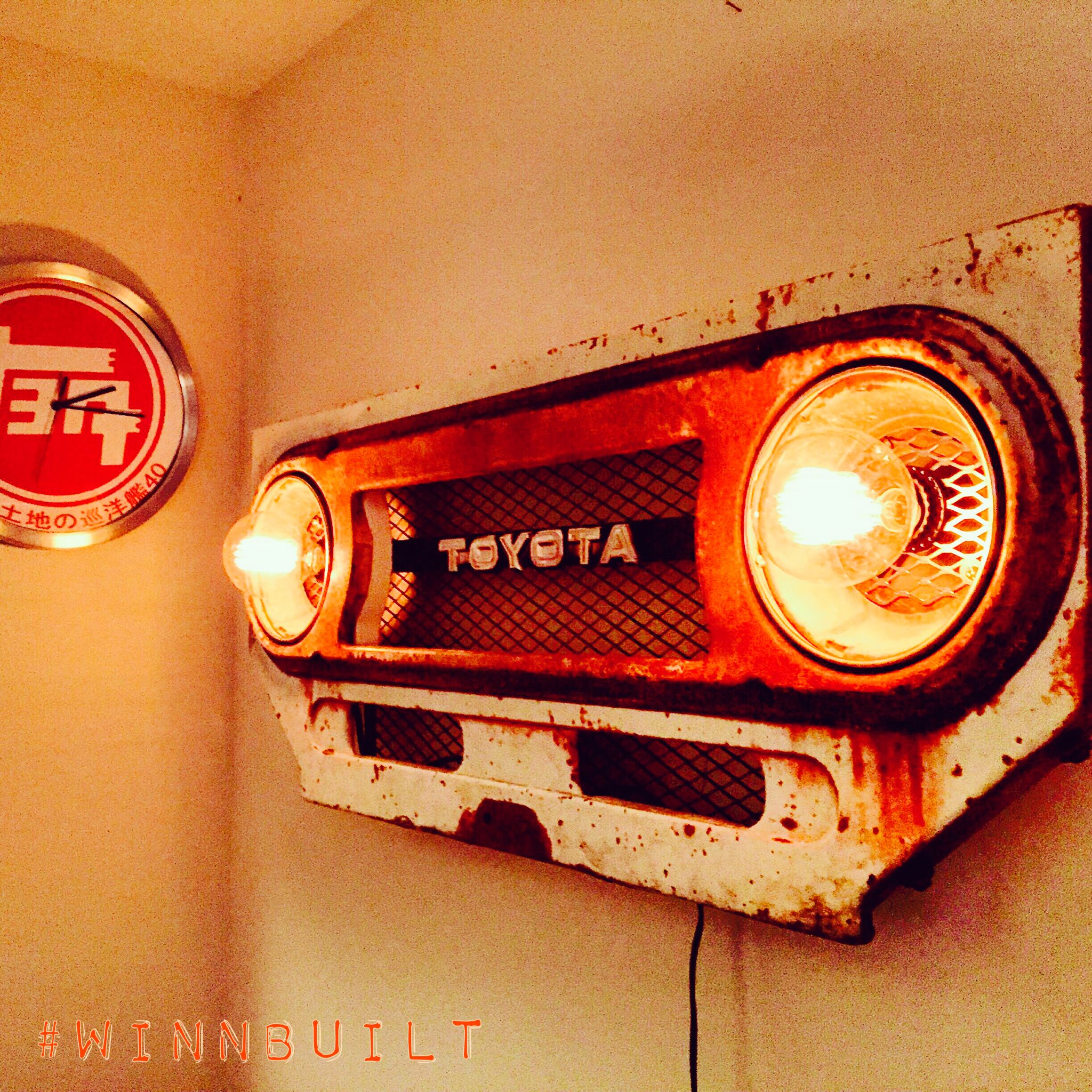 Toyota Garage Decor: Inspired By A Vintage Jeep Wall Hanger, But Being A Land