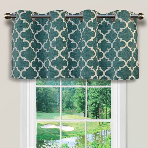 Spencer Home Decor Club Lattice Window Valance 54 X 16 Valance Window Treatments Window Valance Teal Valance