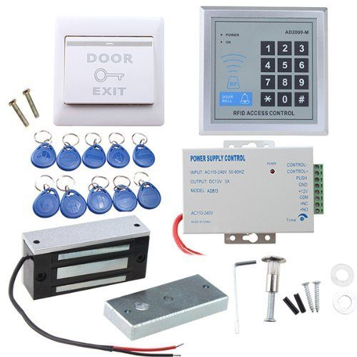 Image Full Set Rfid Door Access Control System Kit With Http Www Amazon Com Dp B00jq5z7ui Ref Cm Sw R P Access Control System Access Control Entry Doors