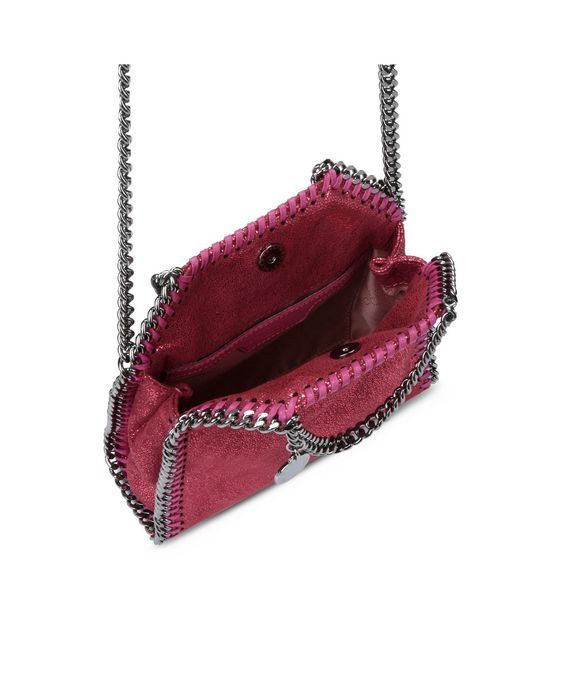 a54c0ab59077 STELLA McCARTNEY Hot Pink Falabella Shiny Dotted Chamois Tiny Tote Mini Bags  D g