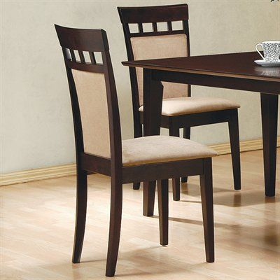 Coaster Fine Furniture Mix Match Cushion Back Side Dining Chair Set Of 2