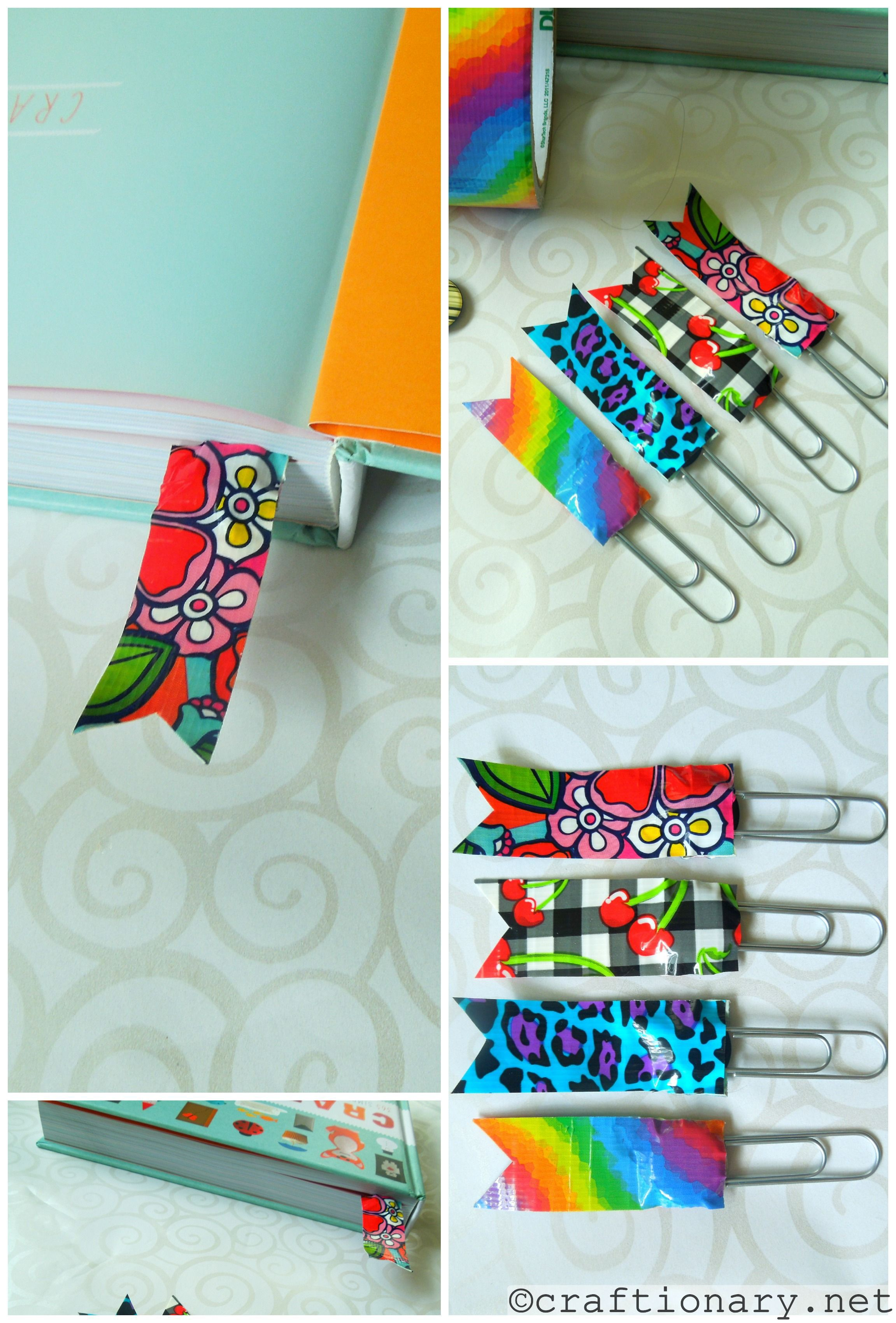 Diy duct tape ideas make simple crafts bookmark ideas for Duct tape bedroom ideas