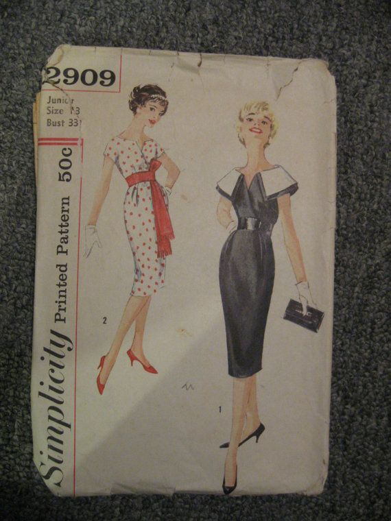 Vintage clothes patterns by ConfectionsMeliBee on Etsy, $4.00