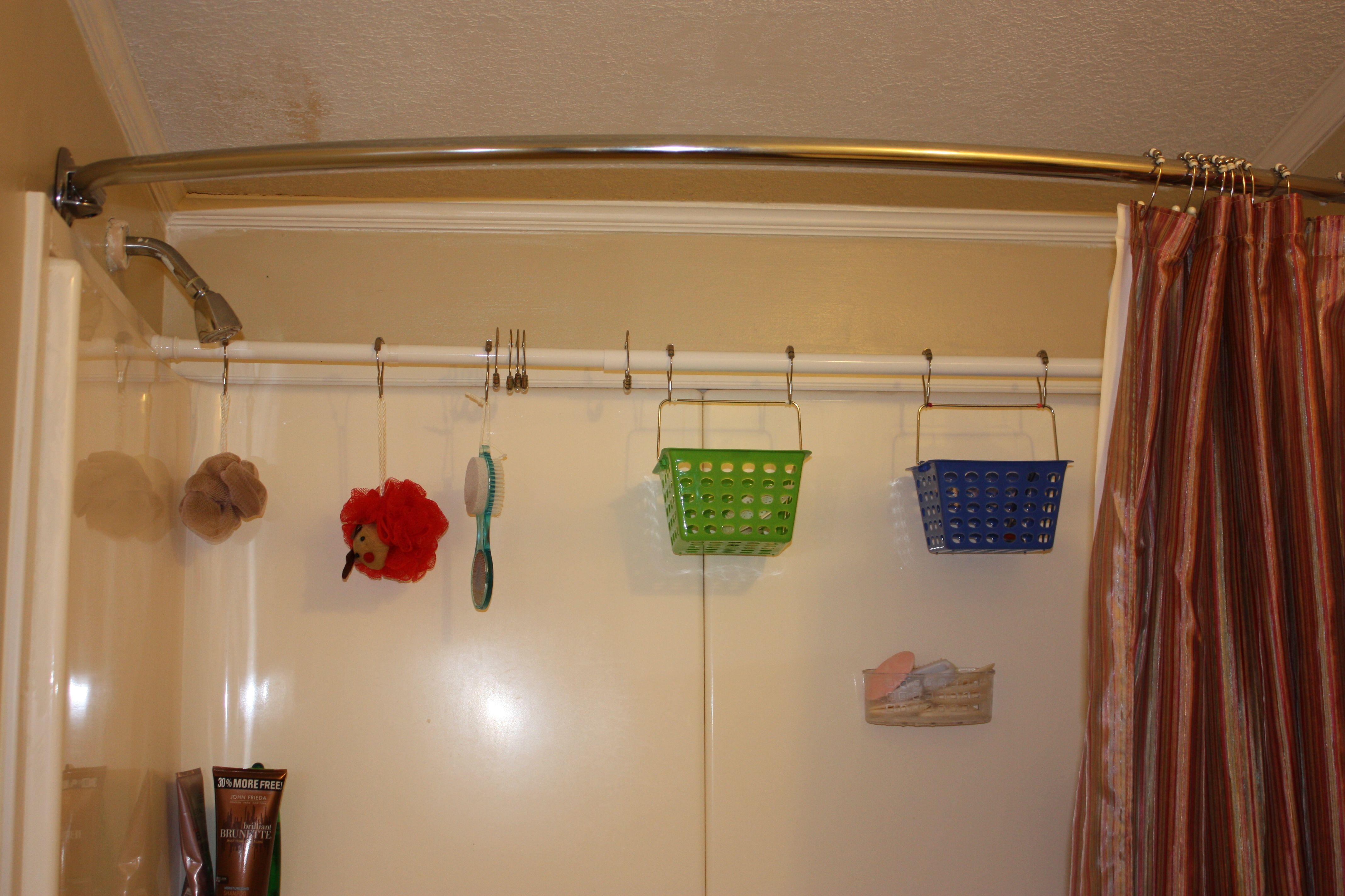 I did it $6.00 Simple Shower Organization   Bathroom   Pinterest ...