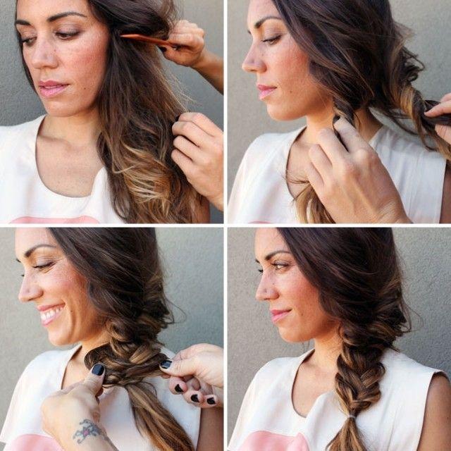 Frisuren Lange Haare Geflochten Seitlich Modische Frisuren Für Sie
