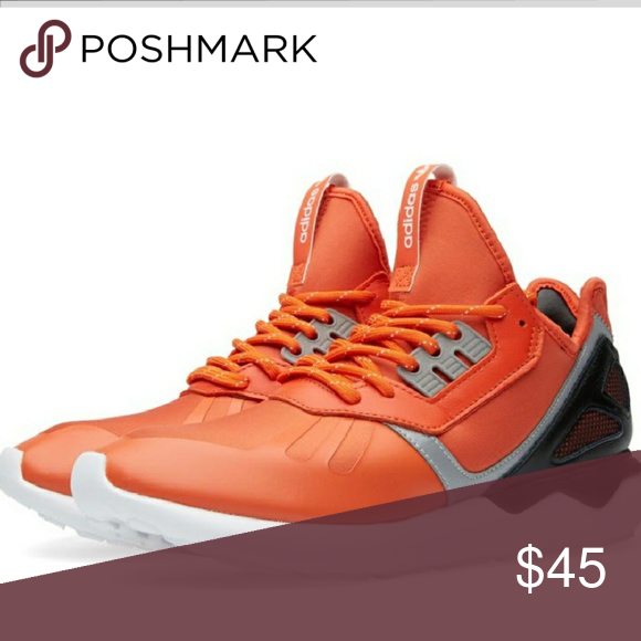 info for 9b5cd e40f5 Adidas Tubular Runner Orange Pre-Owned shoe - does NOT come with original  See photographs