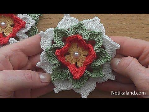 Crochet Flower Tutorial Very Easy Youtube Ana Pinterest