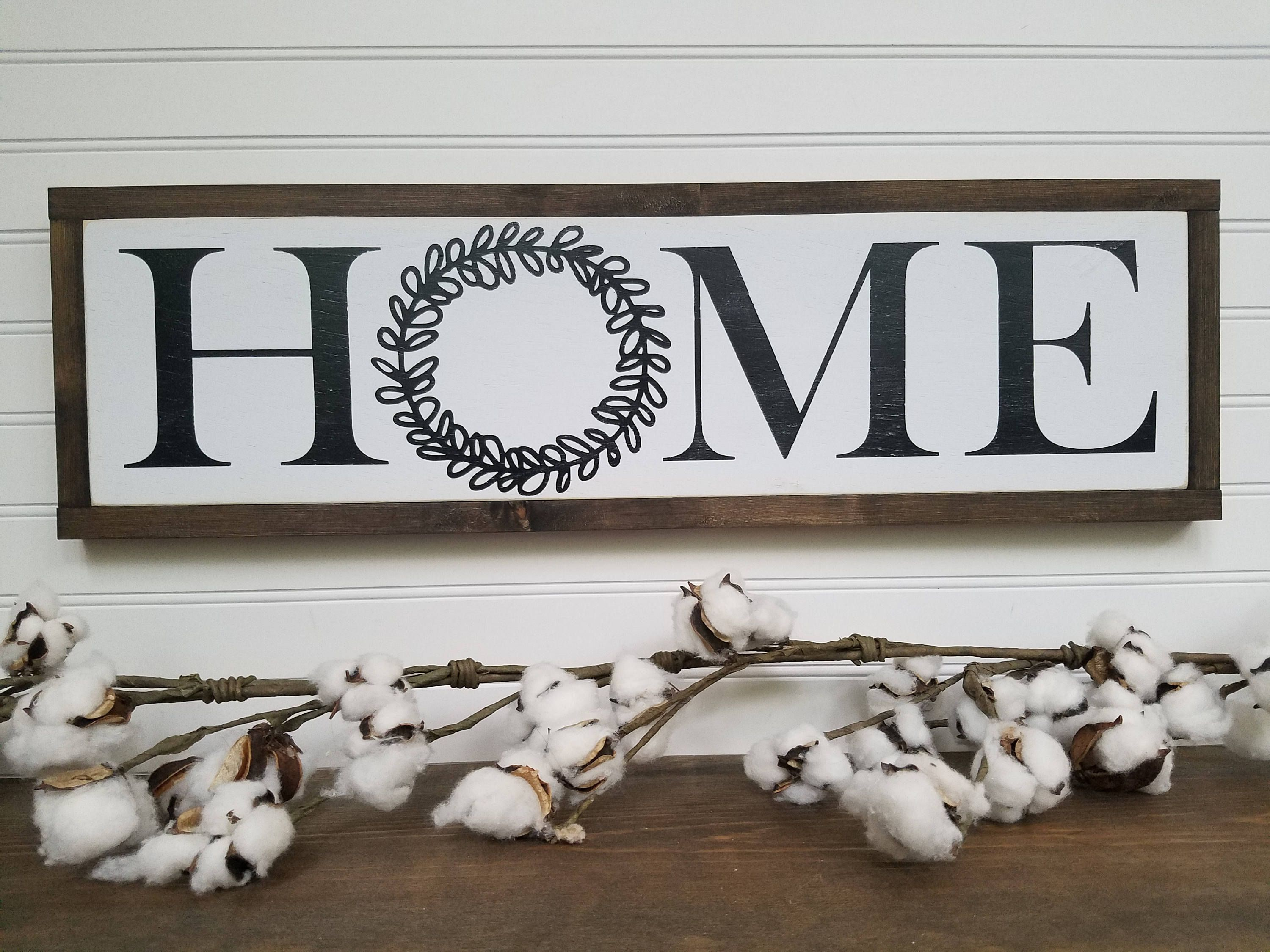 Wooden Signs For Home Decor Pleasing Home Sign  Home Decor  Home Wood Sign  Wood Signs  Wooden Inspiration