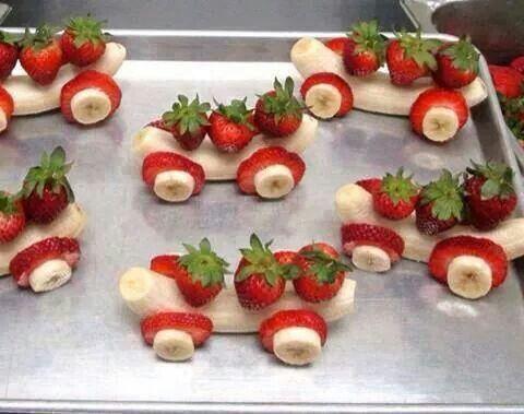Bananen-Erdbeerautos