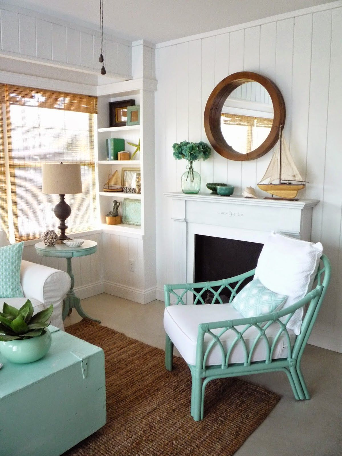 Flea market trixie beach cottage sitting room before - Small living room before and after ...