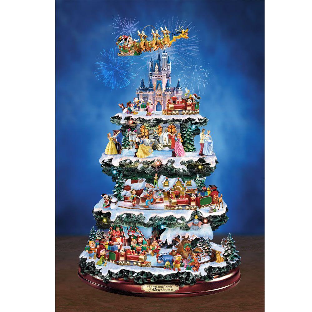 The Disney Animated Tabletop Tree Hammacher Schlemmer Disney Christmas Tree Disney Christmas Disney Christmas Tree Decorations