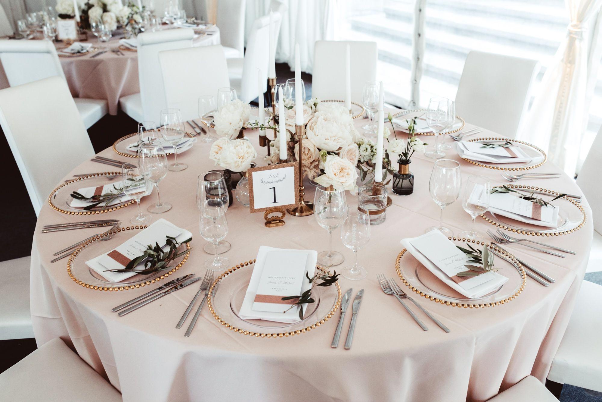 Wedding table decoration Hochzeit Tischdecko runder Tische