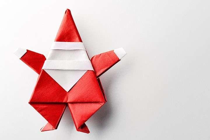 Lavoretti Di Babbo Natale Fai Da Te Origami Natalizio Paper