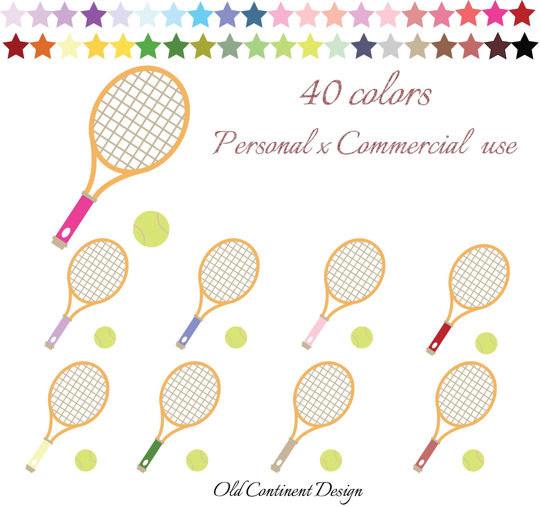 Tennis Racket Clipart Tennis Clipart Sport Clipart Tennis Etsy Tennis Racket Fitness Icon Planner Stickers