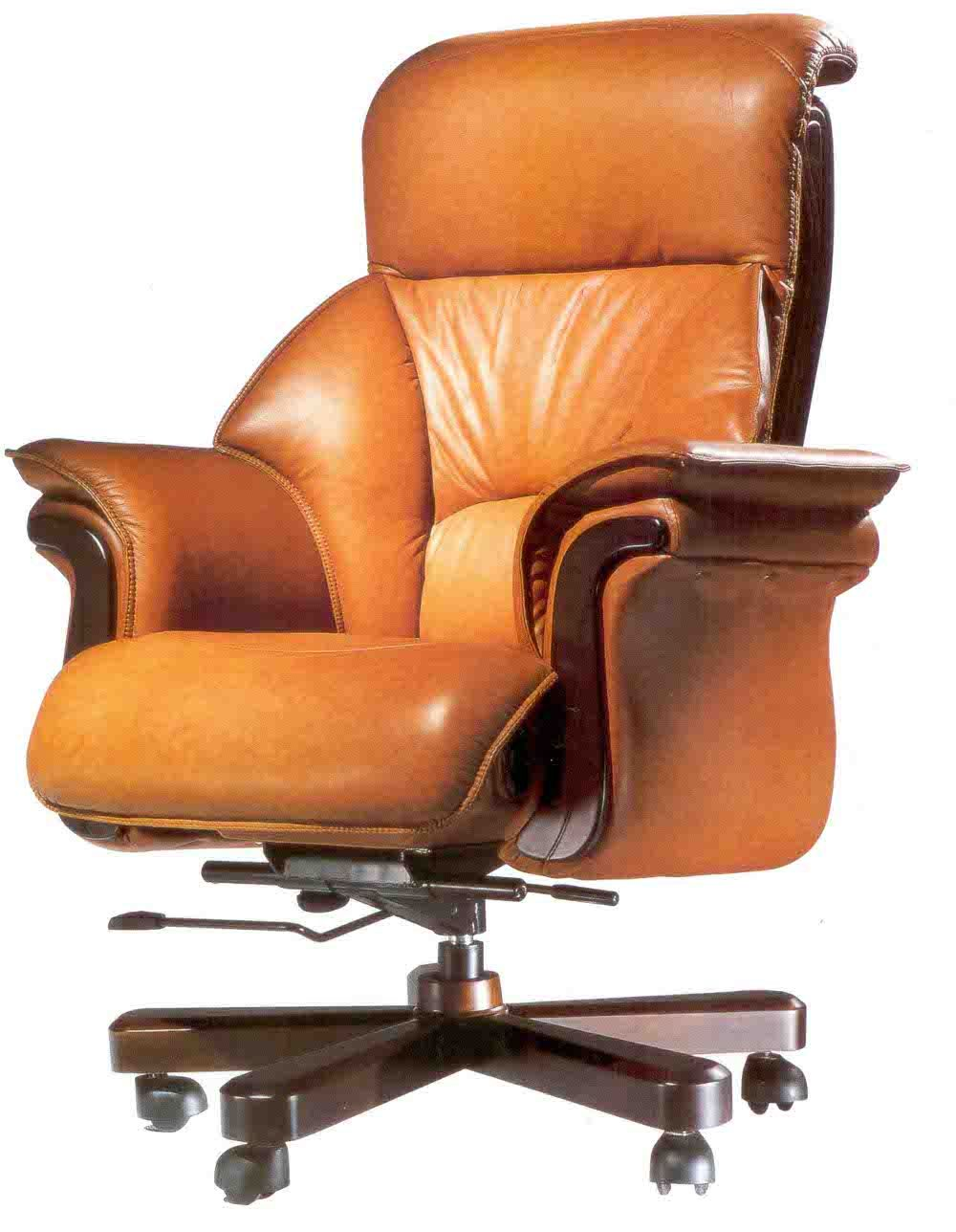 Luxury brown leather office chair