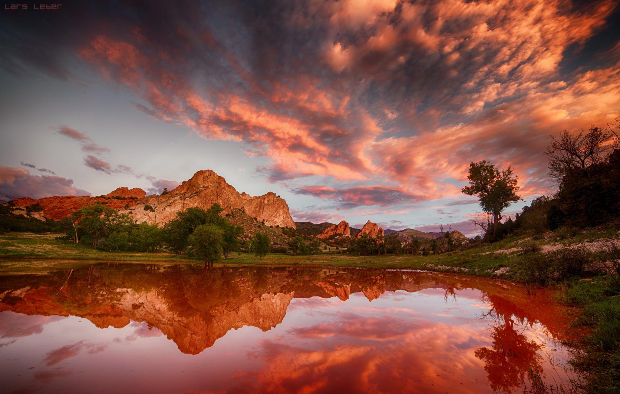 Garden Of The Gods Colorado Springs Sunset