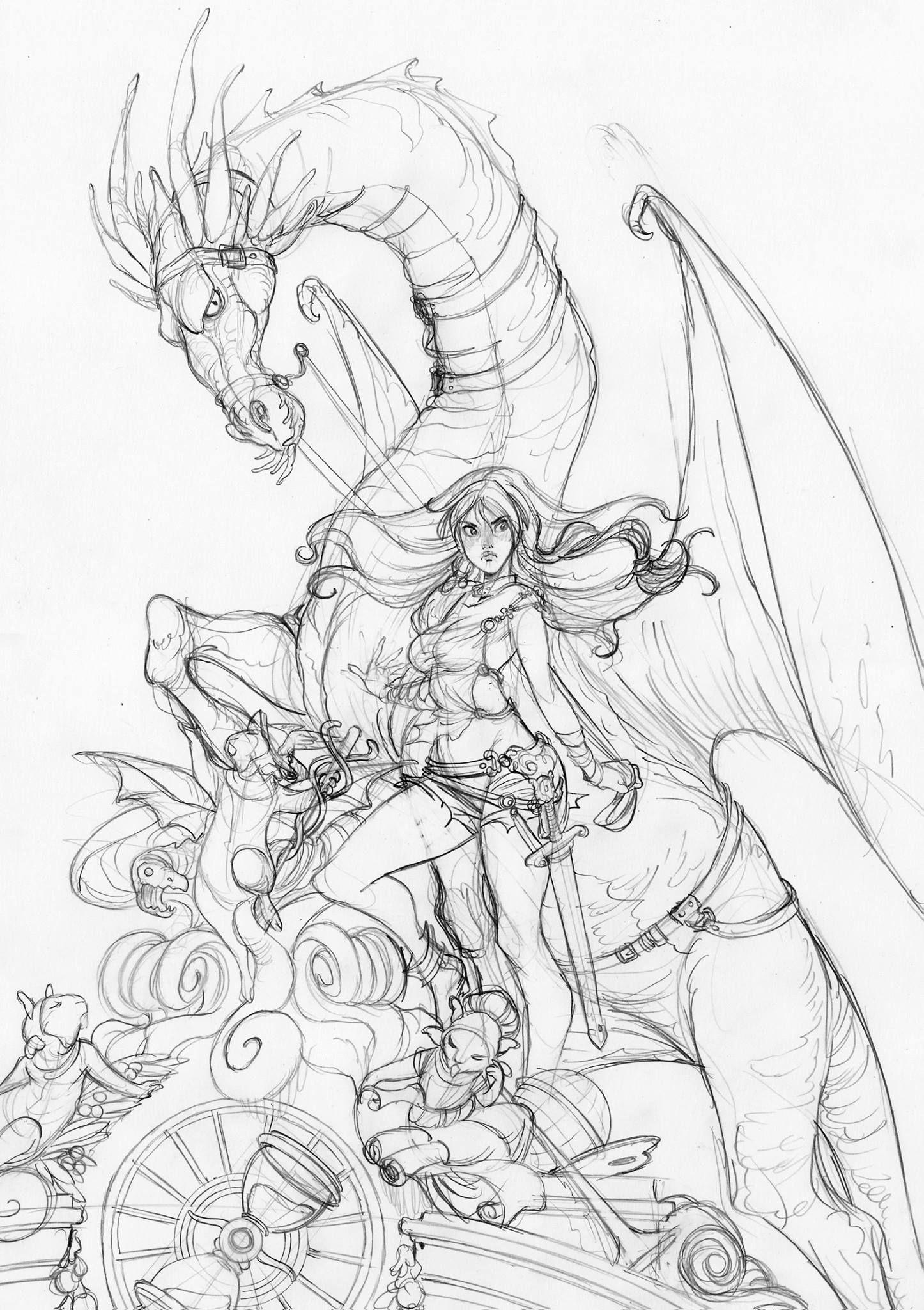 Barbucci alessandro barbucci in 2019 sketches dragon
