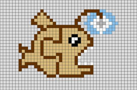 Finding Nemo Anglerfish Pixel Art Pixel Art Pixle Art