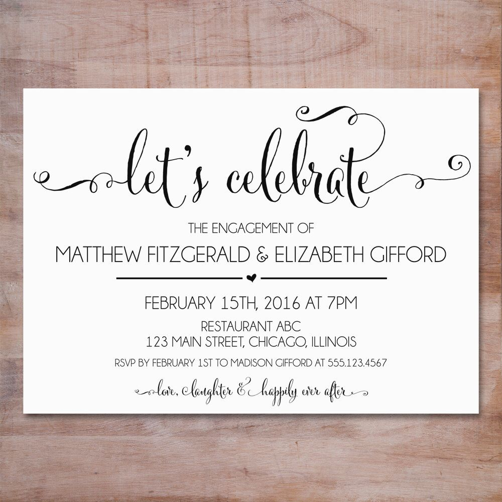 Engagement Party Invitation Were Engaged Invitation Editable