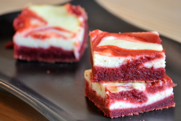 red velvet cheesecake brownies....it's like all of my favorite desserts put together! yum :)