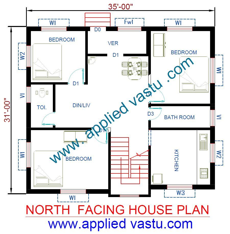 North Facing House Vastu Plan For North Facing House North Facing House How To Plan 2bhk House Plan