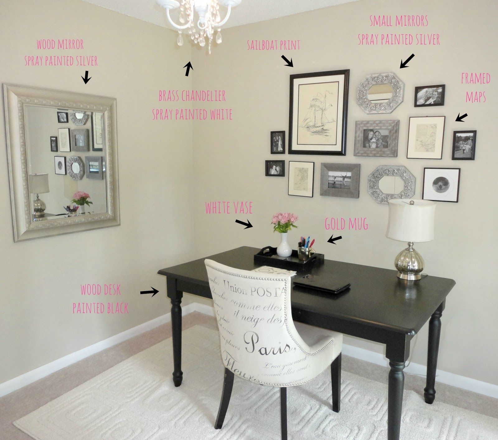 work desks home office. 20 DIY Desks That Really Work For Your Home Office | Tags: Desk Ideas G