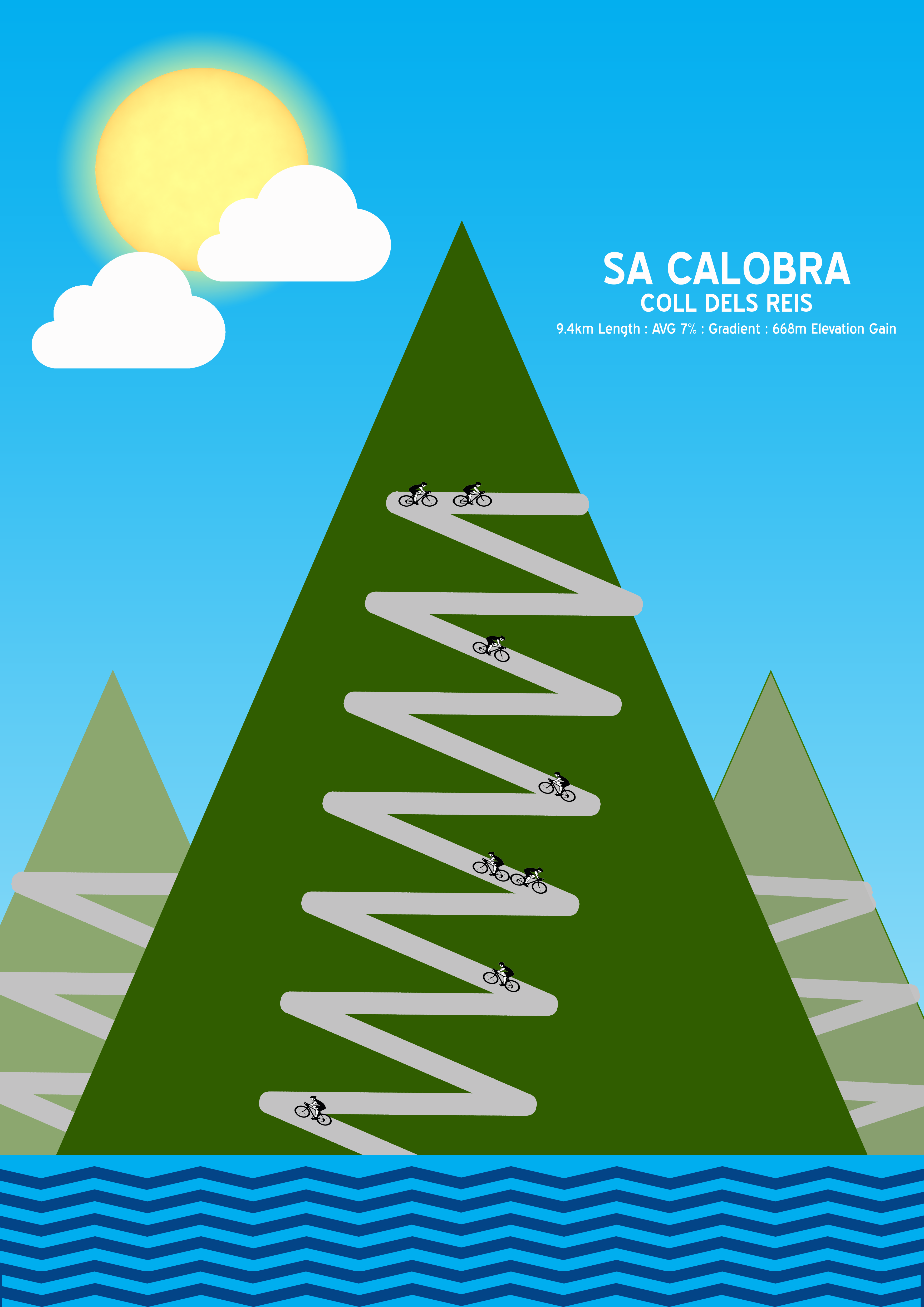 Sa Calobra | Cycling art | Pinterest | Cycling and Cycling art
