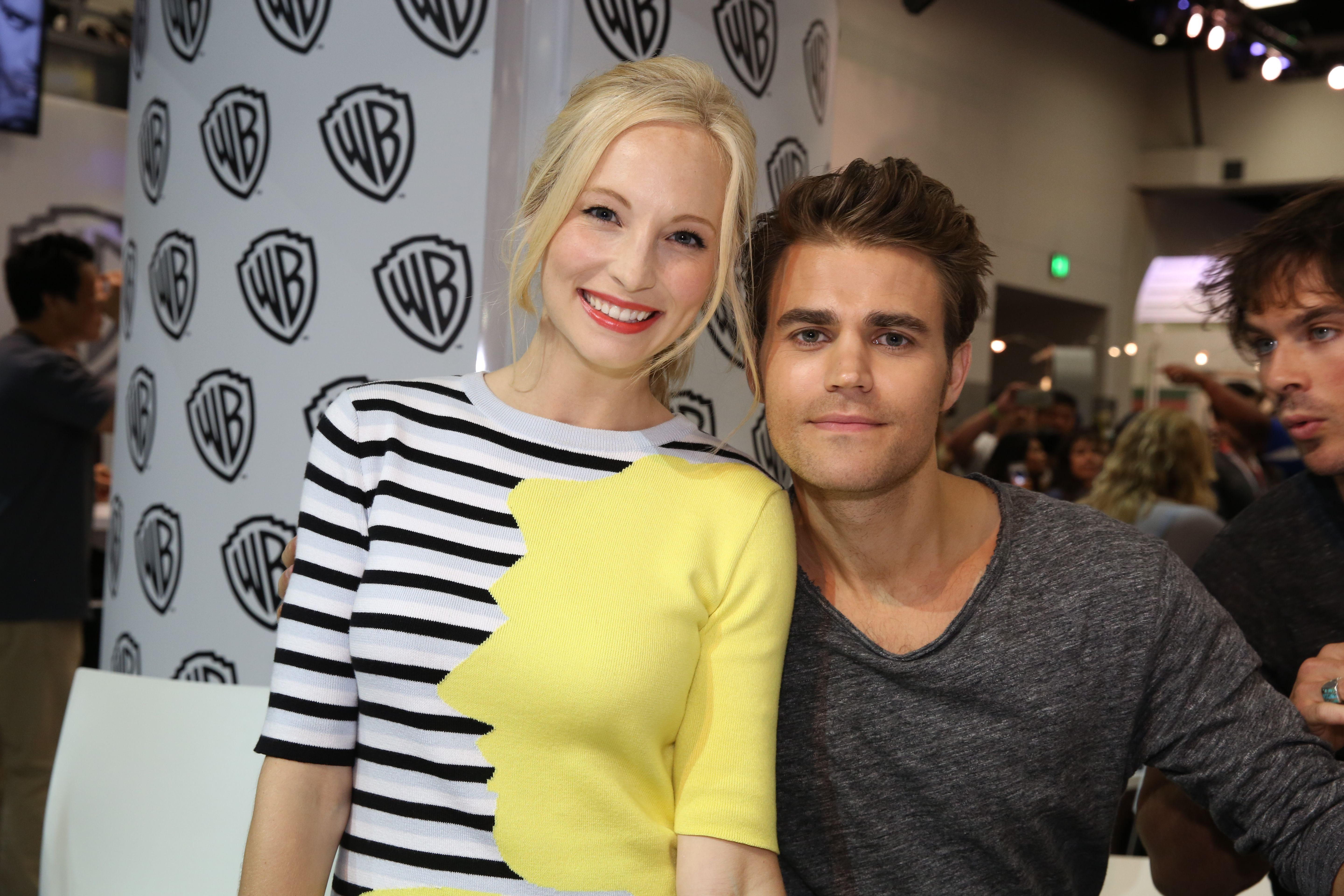 Candice Accola and Paul Wesley at Comic-Con® 2015! #CWSDCC #TVD! Pintirest: @DanyelaChan ♔ Follow Me ♔