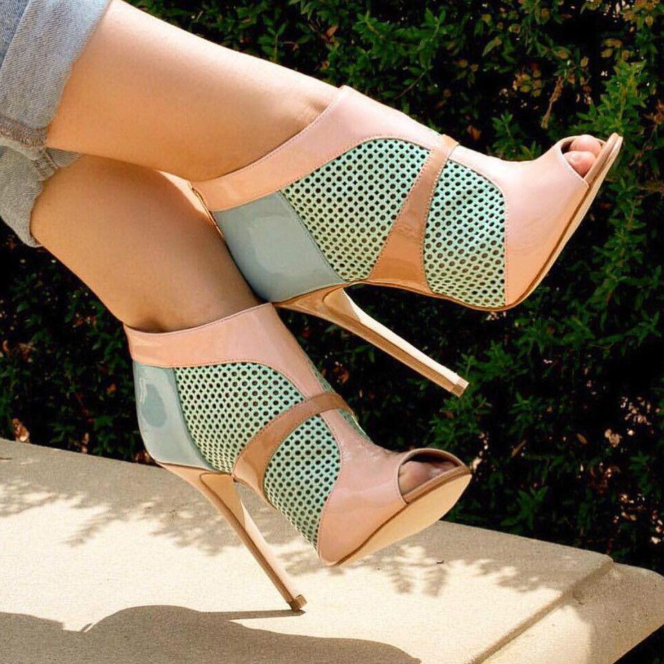 Hot pink dress shoes  Laser Cut Heels  Schuhe  Pinterest  Laser cutting High heel and