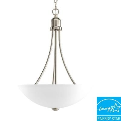 Progress Lighting, Gather Collection 2-Light Brushed Nickel Foyer Pendant, P3914-09EBWB at The Home Depot - Tablet