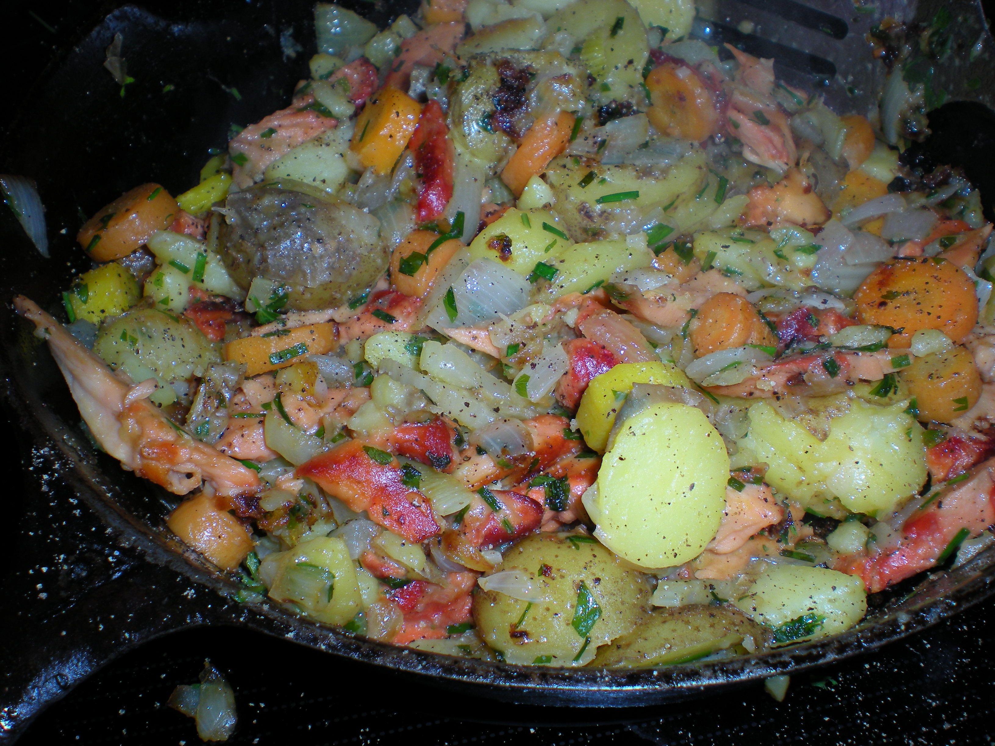 Hash Brown Chicken of the Woods with Potatoes and Onions ...