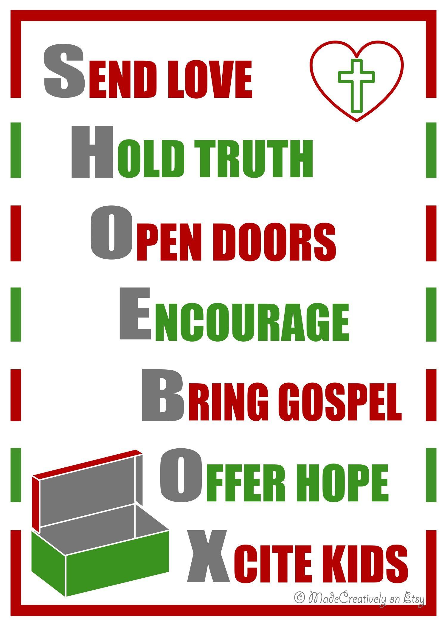 Digital Shoebox Poster | Operation christmas child, Child and Etsy