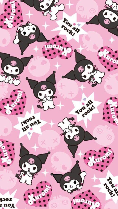 Kuromi Hello Kitty Coloring Sanrio Wallpaper Hello Kitty Wallpaper