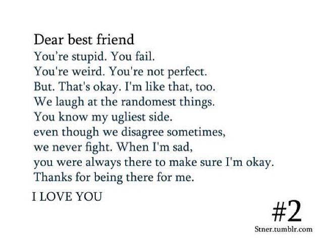 Dear Bestfriend Love You Best Friend Dear Best Friend Best Friend Quotes