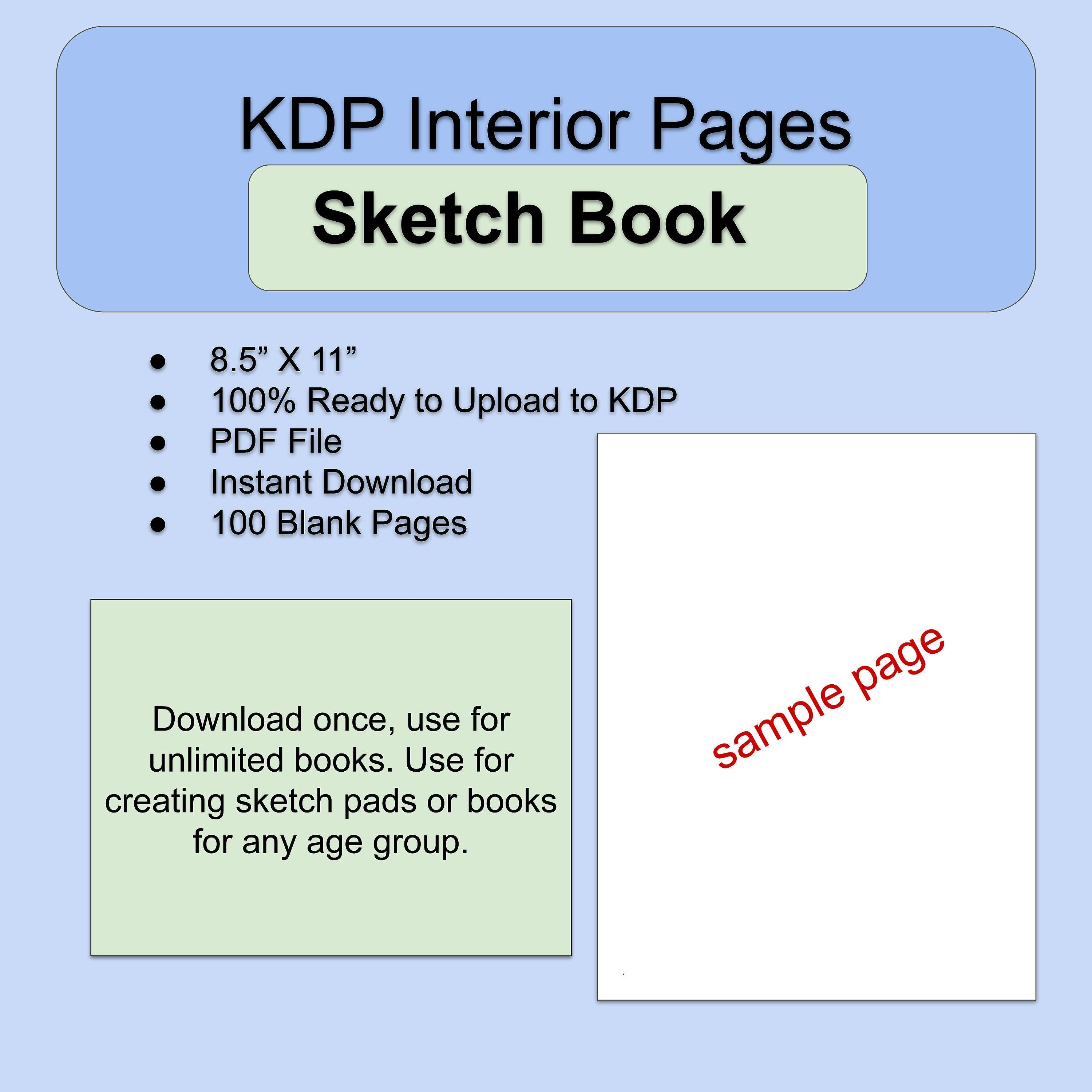 8 5 X 11 Blank Pages Amazon Kdp Interior Template 100 Pdf Pages Ready To Use Low Content Template For Sketch Pads Book Template Blank Page Sketch Book