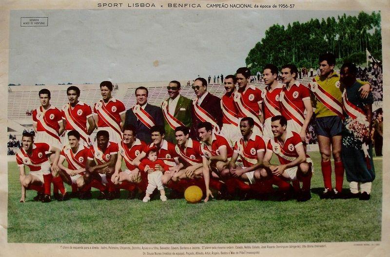 Nacional Benfica: Sport Lisboa E Benfica Campeão Nacional 1956/1957