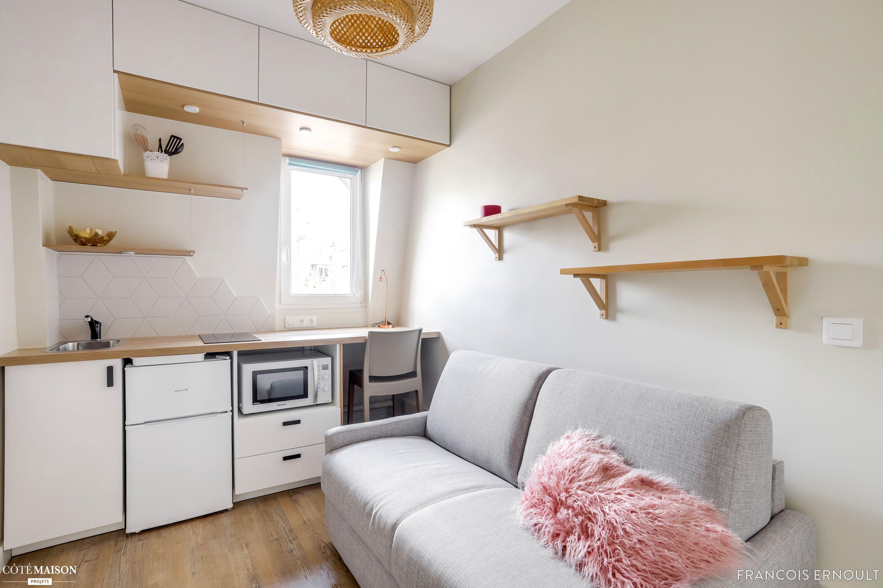R novation studette 10 m2 tout quip e paris 7 me - Location chambre de bonne paris 16 ...