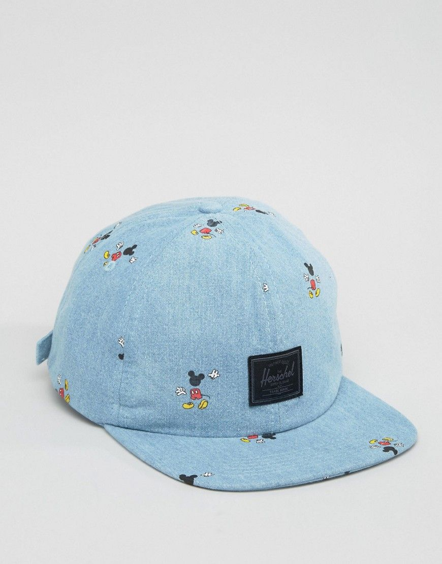 Image 3 of Herschel Mickey Mouse Embroidered Denim Cap  513f5fb8c8e
