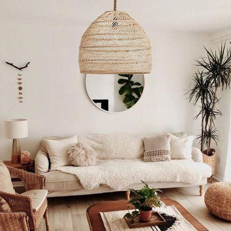 Pendant Light Shades You Ll Love In 2020 Arturest In 2020 Rattan Pendant Light Living Room Lamp Shades Rope Lamp