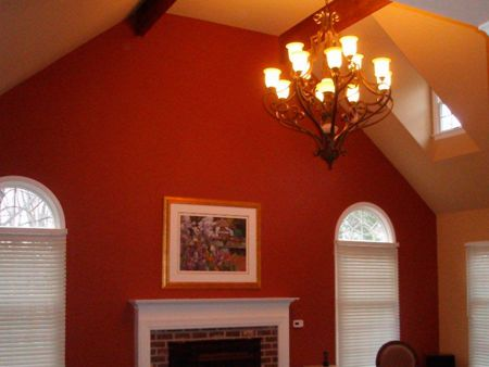 pictures of rooms with two different colors painted living room walls vaulted ceiling and - Living Room Ceiling Colors