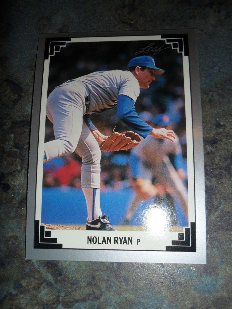 1991 leaf 423 nolan ryan baseball card nolan ryan