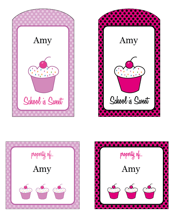 Personalized Printable Cupcake Tags And Labels Open Pdf Edit The Name