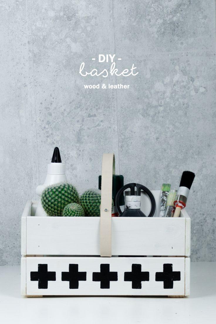 diy holz korb basteln f r picknick oder storage cheap. Black Bedroom Furniture Sets. Home Design Ideas