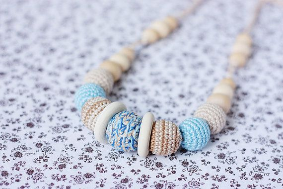 Ecofriendly Teething/ Nursing necklace for by NecklacesForMommy, $24.00