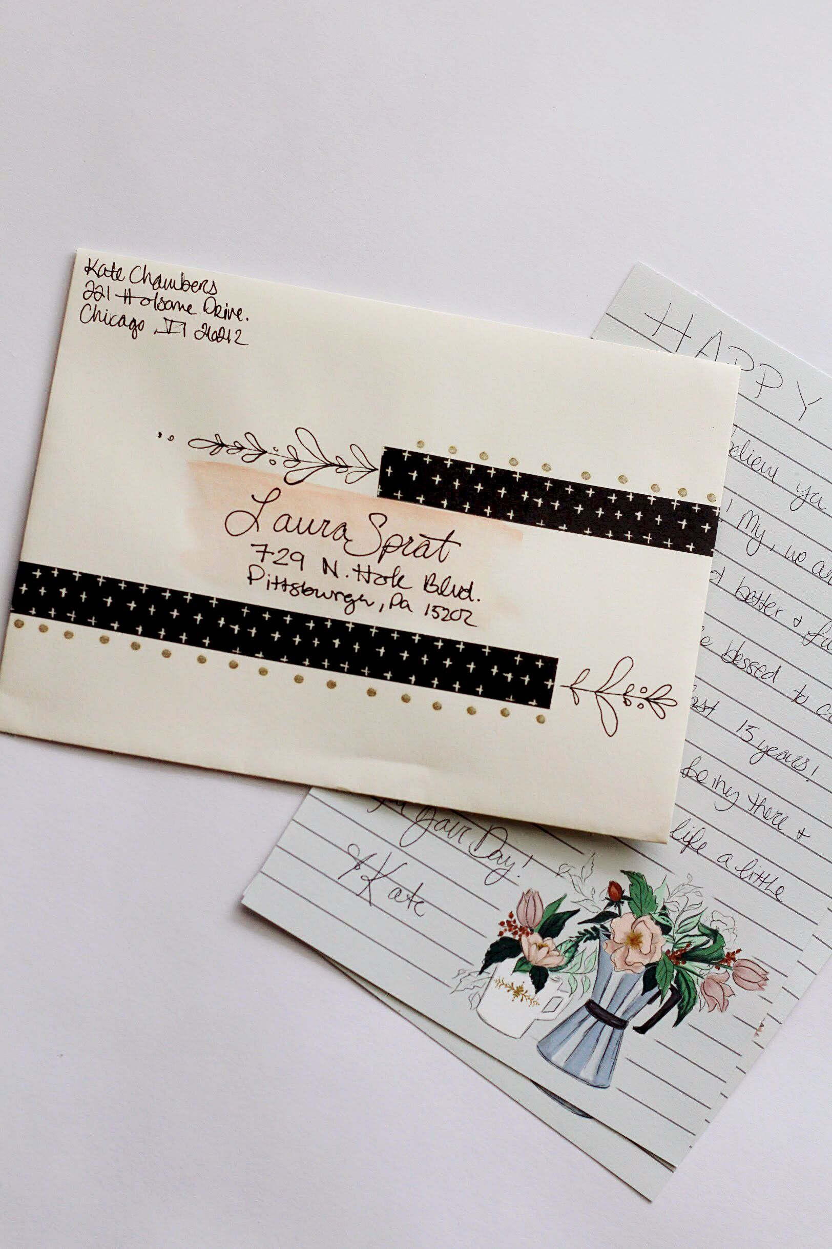 Photo of Decorating Envelopes to Match Your Printable Stationery Sheets – Lily & Val Living