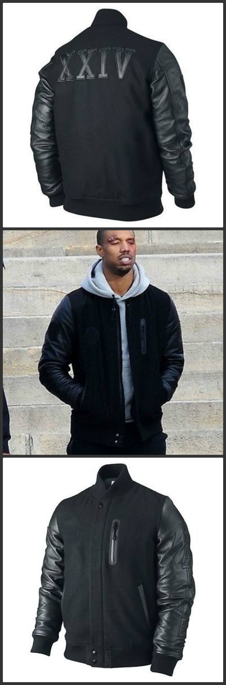 e09c93101af Attractive sports jacket of Michael B Jordan carry in Creed 2015 sports  drama film play as Adonis Creed in the movie. Made with Wool Fabric With  Real ...