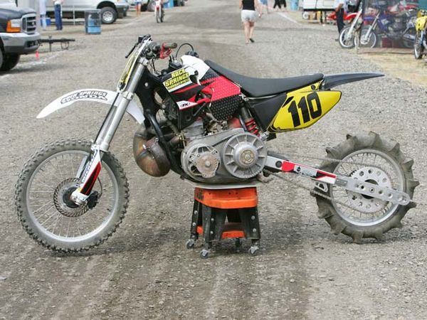 Several Riders Built Bikes Out Of Snowmobile Engines Description