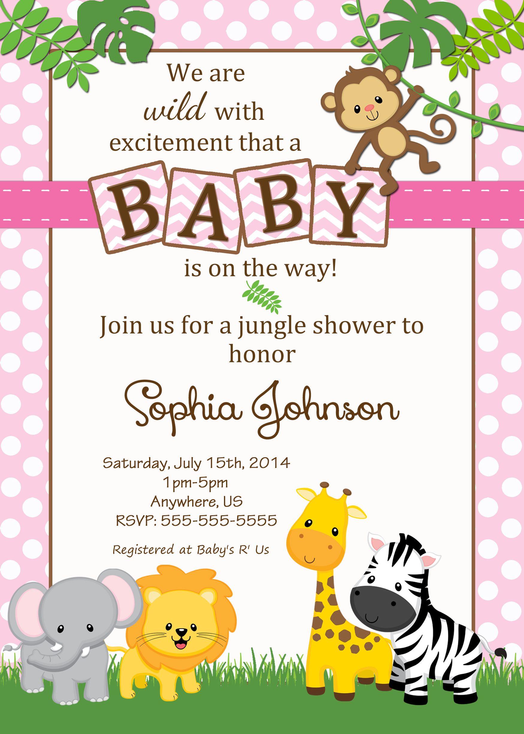 Jungle Baby Shower Invitation $899