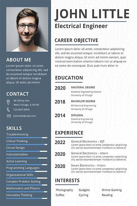 Electrical Engineer Fresher Resume Template Engineering