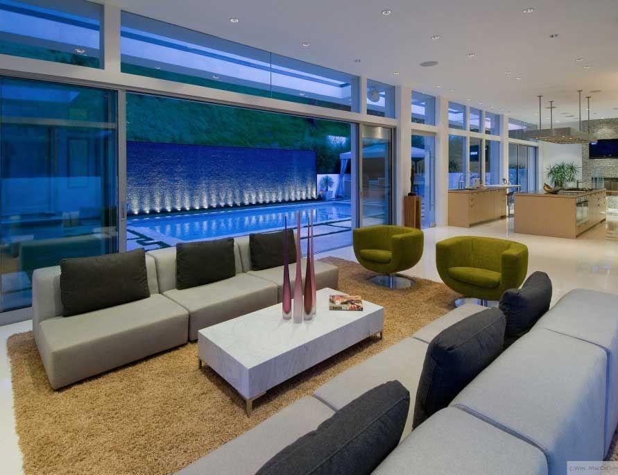Modern Living Room Besides The Pool: Modern Living Room Besides The ...